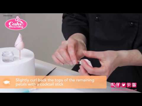 How to Make a Rose - Cake Decorating tutorial