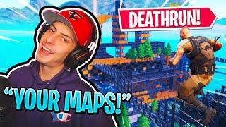 FaZe Cizzorz Plays Your Fortnite CREATIVE MODE MAPS! (Deathrun)
