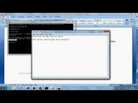 WCF Tutorial - HTTPS (TLS / SSL) setting for WCF application