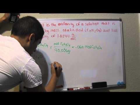 Calculate Molarity from percent by mass and density - Problem 448