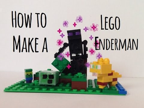 How to make a minecraft lego enderman (Minecraft lego ideas)