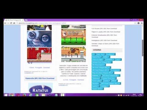 como baixar e instalar o visual boy advanced no pc windows 7/8/8.1 + roms