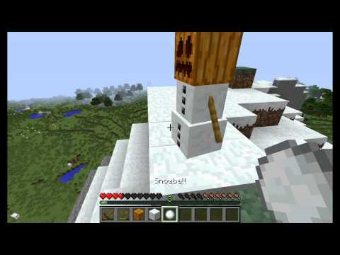 How to Make Snowballs and a Snow Golem! - Minecraft Quick Tips