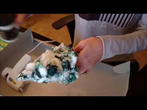 DIY Christmas Village Trees - How to Make