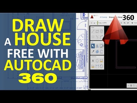 Draw a House with AutoCAD 360, Make House Floor Plan Free OnLine