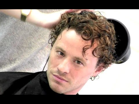 Heath Ledger Hairstyle Tutorial | How To Style Men's Curly Hair | By Vilain Silver Fox