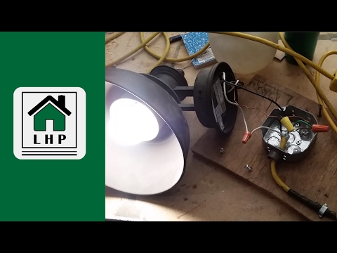 Discount Outdoor Security Light - Testing and Installing - LHP