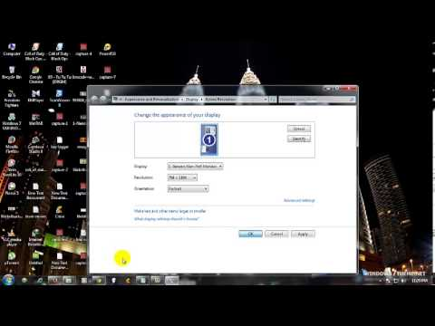 How to rotate the screen in windows 7