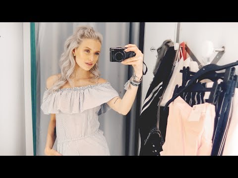 COME SHOPPING WITH ME AND TRY ON IN STORE -  So many new clothes!   Vlog 93