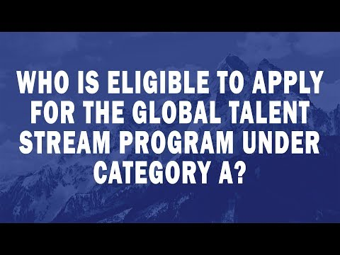 Who is eligible to apply for the Global Talent Stream program under Category A?
