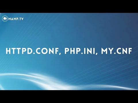 24 MAMP PRO and httpd.conf, php.ini, my.cnf