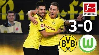 Hazard, Götze & Guerreiro Score for BVB I Borussia Dortmund vs. VfL Wolfsburg I 3-0 I Highlights