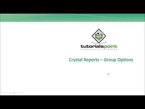 SAP Crystal Reports - Group Options