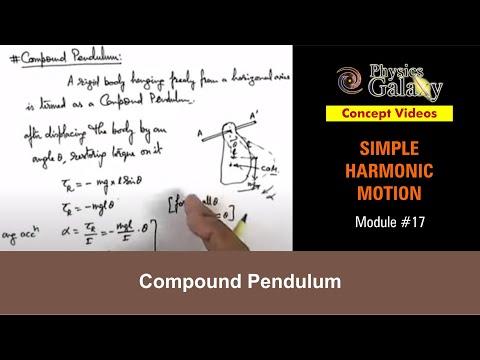 17. Class 11th Physics | SHM | Compound Pendulum | by Ashish Arora