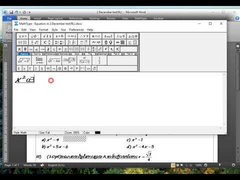 How to custom Math type short cut key