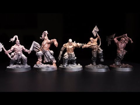 How to Paint 5 Easy Skin Tones for Shadespire Khorne Bloodreavers - Garreks Reavers (Part 1)