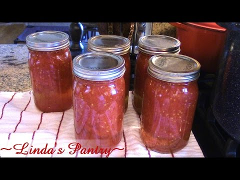 ~Home Canned Crushed Tomatoes With Linda's Pantry~