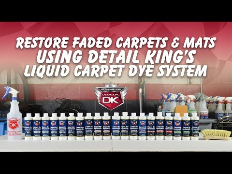 How To Restore Your Faded Carpets & Floor Mats - Detail King Liquid Carpet Dye System