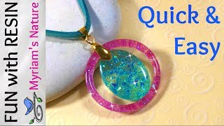 69] How to use RESIN for EASY, pretty JEWELRY - No tools - just a mold! Clearcast 7050 & Glitter
