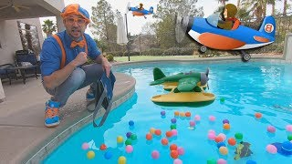 Download Blippi and Airplanes for Kids | Educational for Toddlers and The Seaplane Song Video