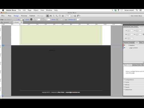Add the new Twitter feed to Adobe Muse