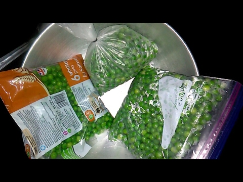 How to make frozen green pea's and store for 1 year
