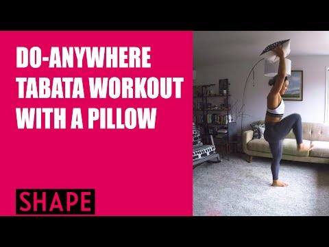 Do Anywhere Tabata Workout with a Pillow