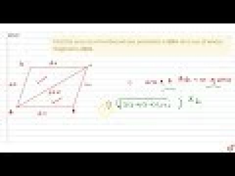 Find the area of a rhombus whose perimeter is `80 m` and one of whose diagonal is `24 mdot`