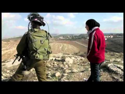 Words vs. Israeli soldiers- Demonstration in Nabi Salih, Palestine, 25.11.2011 OgrishTube.Com