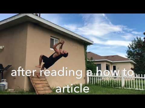 Backflip off wall progression and tips!!