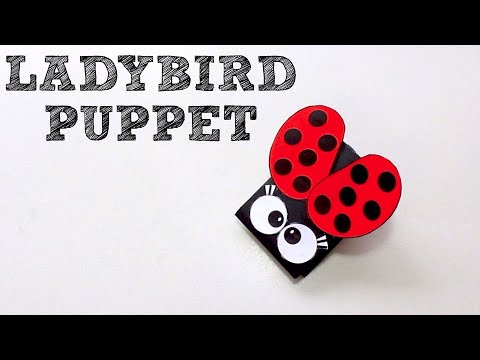 How to Make a Ladybird Paper Puppet