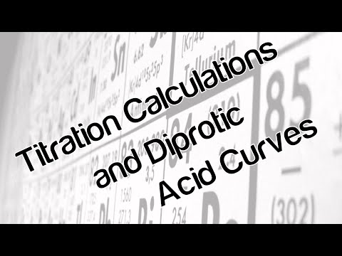 Titration calculations and diprotic acid curves