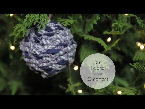 DIY Fabric Twine Ornament