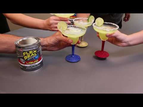 How to Make Glitter Margarita Glasses | Flex Seal®