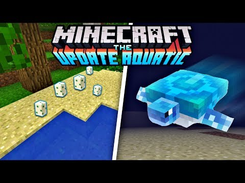 How to HATCH Turtle EGGS in Minecraft - NEW Turtle Mob in MCPE 1.3 (The Aquatic Update)