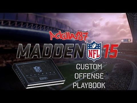 Madden 15 My Custom Offensive Playbook Now On PS3
