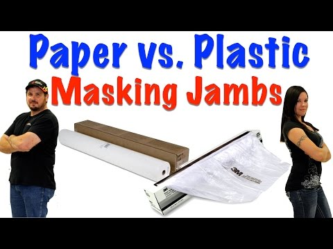 Paper vs.  Plastic For Masking Car Jambs
