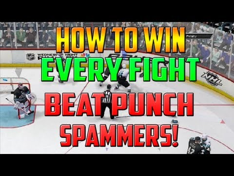NHL 14 l How To Win Fights Beat Punch Spammers Win Fights NHL 14 (Tutorial)