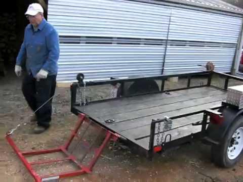 Homemade Wood Lift for utility trailer