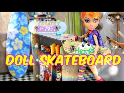 DIY - How to Make: Doll Skateboard - Handmade - Doll - Crafts