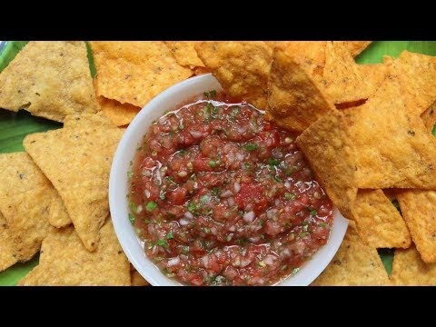 घर का बना रेस्तरां शैली मैक्सिकन साल्सा सॉस    Mexican Salsa Sauce Recipe In Hindi