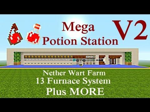 Minecraft Tutorial : Mega Potion Station V2