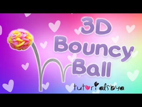 NEW 3D Bouncy Ball MONSTER TAIL Rainbow Loom Tutorial | How To