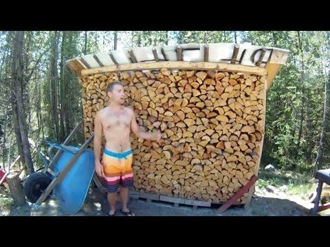DIY FREE Firewood Storage Shed