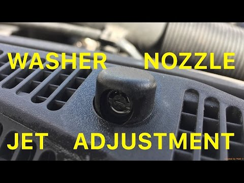 How To Refill Screen Wash and Adjust Washer Nozzle Jets