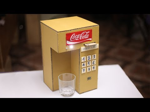 DIY Coca Cola Fountain Machine Using a Credit Card at Home