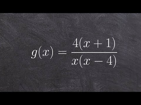 Determine the x and y intercept of a rational function