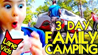 FIRST TIME FAMILY TENT CAMPING AT A STATE PARK + Must Have Camping Supplies: Full 3 Day Camping Trip
