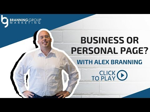 Business or Personal Facebook Page?