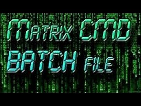 How To Make A Matrix In CMD(Command Prompt)